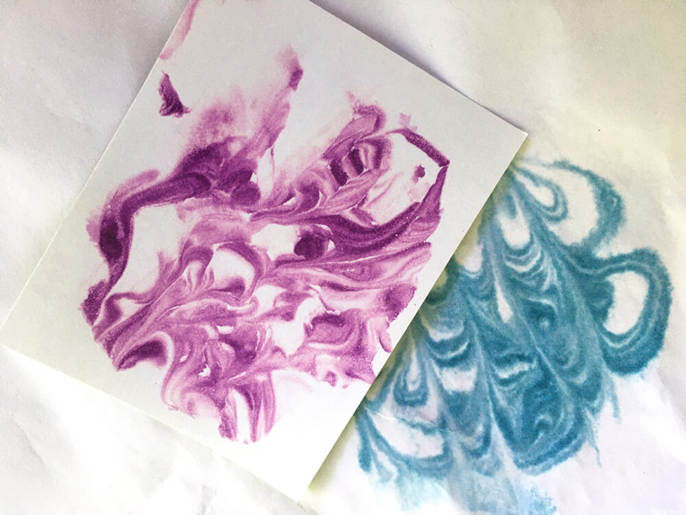 marbled paper samples
